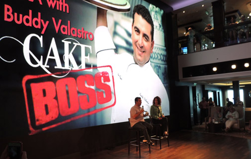 Who's the boss? TLC TV star Buddy Valastro was onboard to give a talk as was Iron Chef Zakarian. *Photo by Don Burgess