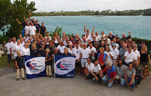 A welcome hello: Sailors for the Arc Rally leave on Wednesday for the Azores. *Photo by Mia Karlsson