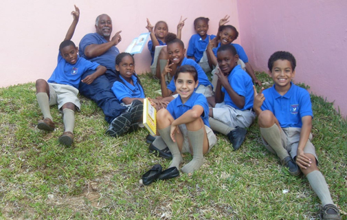 Helping out: Last year saw 250 men participate in Elliot Primary School's Reading Challenge. *Photo supplied
