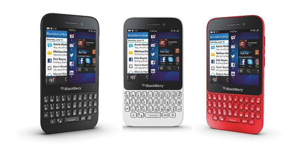 The BlackBerry Q5 retails for $299 in Bermuda and features the BlackBerry hub.