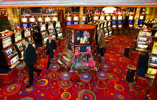 A Casino on the cruise ship 'Freedom of the Seas'. *AFP photo