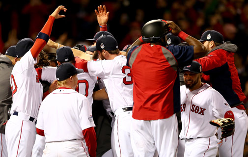 Front row seat as Red Sox make history