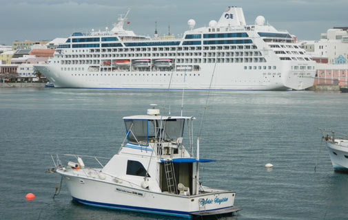 Last call: The Pacific Princess will arrive on Friday. *Bermuda Sun file photo