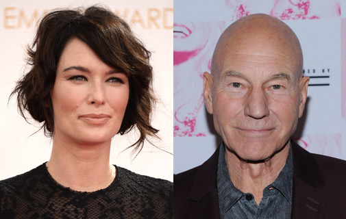 Lena Headey, left, who stars in TV hit Game of Thrones; actor Patrick Stewart, of Star Trek fame. *AFP photo