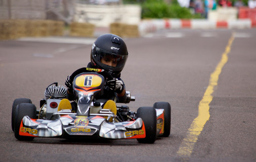 Young talent: Junior karting at the Dockyard Grand Prix. *File photo