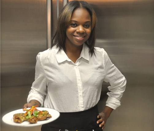 Wild wings: Dakia O'Brien's new business Dae N' Night Catering is taking off. She first started cooking wings for friends and family but her food was so popular that she was convinced that she should launch her own business.   *Photo supplied