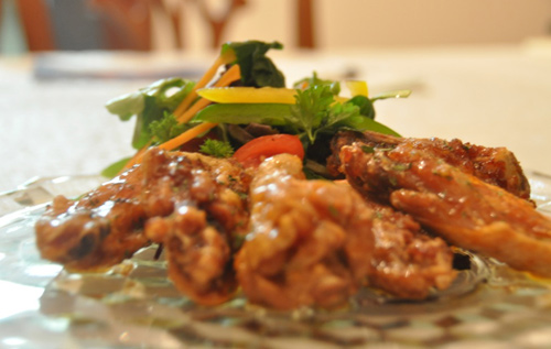 Sweet and Spicy Honey Wings, see recipe below.   *Photo supplied
