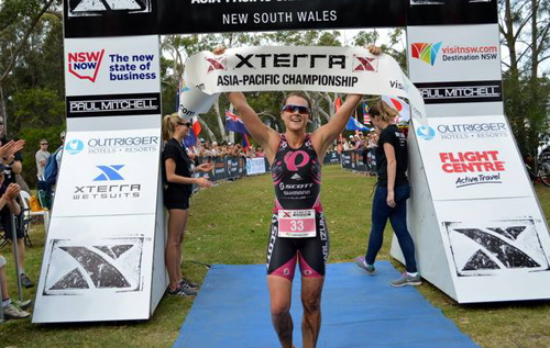 Flora Duffy followed up her XTERRA West Championship win with a superb victory in the inaugural Asia-Pacific Championship on Saturday. *Photo courtesy of XTERRA/facebook