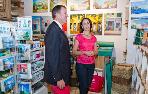 Premier Michael Dunkley visited with vendors in the Clocktower Mall. *Photo supplied