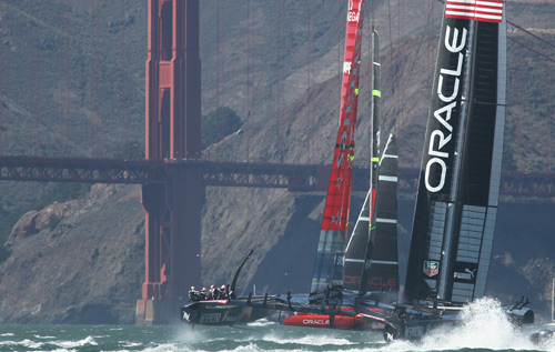Champions: Oracle Team USA won the 2013 America's Cup. *AFP photo