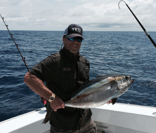 Shawn Michaels shows off his fishing prowess. Photo supplied