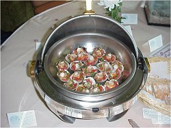 Scallops served on half shell at Butterfield and Vallis Food Show in 2003. *Photo supplied